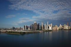 街市芝加哥视图 免版税库存图片