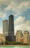 街市芝加哥,在一个晴天的IL 图库摄影