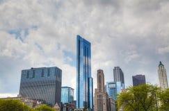 街市芝加哥, IL 免版税图库摄影