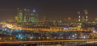 街市莫斯科城市光  库存照片