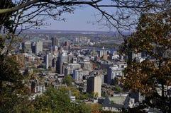 街市蒙特利尔俯视图  免版税图库摄影