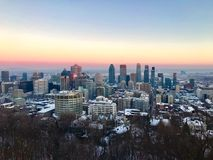街市蒙特利尔魁北克加拿大 免版税图库摄影