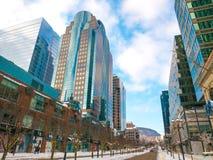 街市蒙特利尔 麦吉尔街道,加拿大 免版税图库摄影
