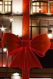 街市装饰和照亮在假日 图库摄影