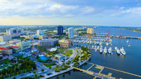 街市西棕榈海滩 免版税库存图片