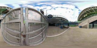 360街市西雅图华盛顿equirectangular球状照片  免版税库存照片