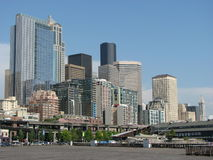 街市西雅图地平线 图库摄影