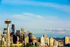 街市西雅图照片从凯利公园西雅图的 库存照片