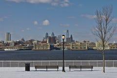 街市费城冬天 库存照片