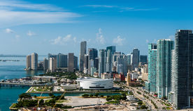 街市迈阿密鸟瞰图  库存照片