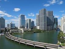 街市迈阿密,佛罗里达地平线 库存照片