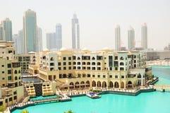 街市迪拜旅馆老宫殿 库存图片