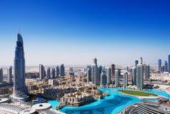 街市迪拜是迪拜的多数普遍的部分 库存图片