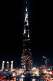 街市迪拜晚上 库存图片