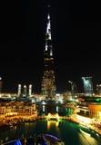 街市迪拜晚上 库存照片