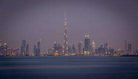 街市迪拜的地平线 库存照片
