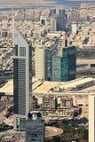 街市迪拜的鸟瞰图 免版税库存图片