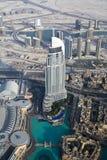 街市迪拜阿拉伯联合酋长国的鸟瞰图 库存图片