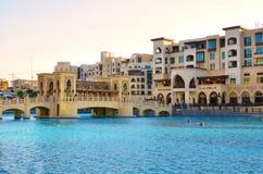 街市迪拜阿拉伯联合酋长国 库存图片