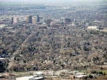 街市通过沃姆斯普林斯Mesa 免版税库存图片