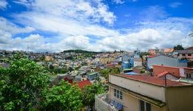 街市都市风景在大叻,越南 库存照片