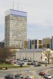 街市里加,拉脱维亚看法  免版税库存照片