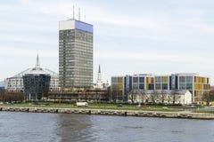 街市里加,拉脱维亚看法  库存照片