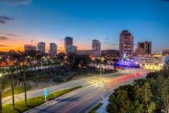 街市长滩在加利福尼亚 库存照片