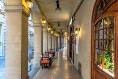 街市门廊在波隆纳 免版税库存图片