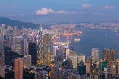 街市香港中央的事务 免版税库存照片