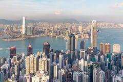 街市香港市中央的事务城市 库存照片