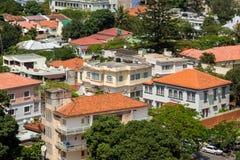街市马普托鸟瞰图  免版税库存照片