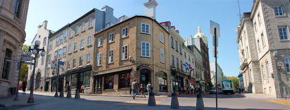 街市魁北克市全景  免版税库存照片