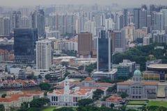 街市鸟瞰图在新加坡 免版税库存照片