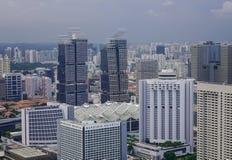 街市鸟瞰图在新加坡 免版税库存图片