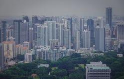 街市鸟瞰图在新加坡 免版税图库摄影