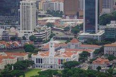 街市鸟瞰图在新加坡 库存照片