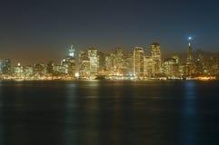 街市黄昏弗朗西斯科・圣 免版税库存图片