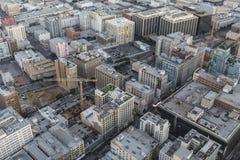 街市洛杉矶历史的核心天线 库存照片
