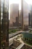 街市洛杉矶,加利福尼亚,烟雾的 免版税图库摄影