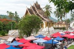 街市-琅勃拉邦,老挝 图库摄影