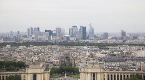 街市巴黎的都市风景 免版税库存图片