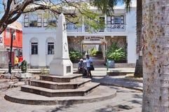 街市Charlestown,尼维斯岛,一个海岛的首都在加勒比 免版税库存照片