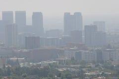 街市LA大气污染 免版税库存图片