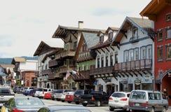 街市Leavenworth华盛顿 免版税图库摄影