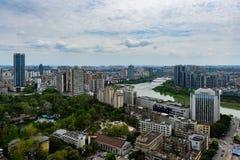 街市Miangyang的市 库存图片