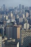 街市São的保罗,巴西摩天大楼 库存照片