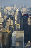 街市São的保罗,巴西摩天大楼 图库摄影