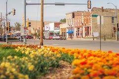 街市Wamego,堪萨斯 库存照片