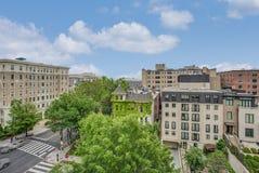 街市Washtington DC在从屋顶的夏天 库存图片